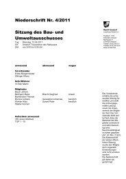 Sitzung des Bau- und Umweltausschusses Niederschrift ... - Arnstorf