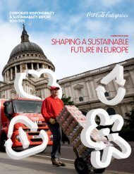 shaping a sustainable future in europe - Coca-Cola Enterprises