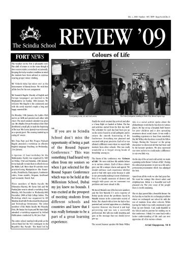 1st February 2009 - The Scindia School