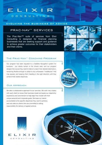Prac-Nav Business Coaching brochure - Elixir Consulting