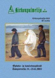 KP-LEHTI 2/2002 - Kirkonpalvelijat ry