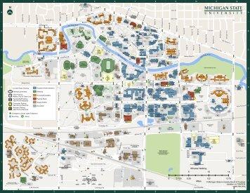 Msu Campus Map Main Campus Map (PDF)   MSU Campus Maps   Michigan State  Msu Campus Map
