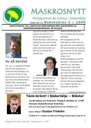 MASKROSNYTT - Miljöpartiet de gröna