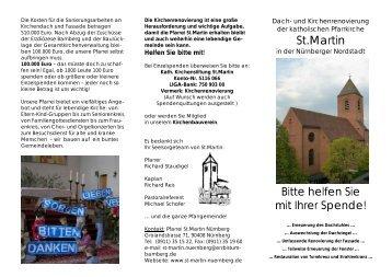 Flyer mit Informationen zur Kirchenrenovierung zum Download