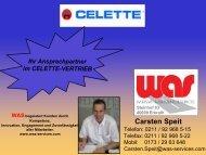 Ihr Ansprechpartner im CELETTE-VERTRIEB Carsten Speit