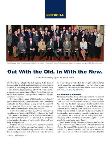 Out With the Old. In With the New. - New York State Dental Association