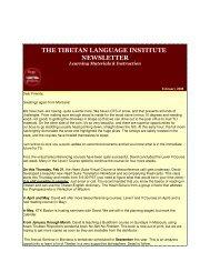 Winter 2008 - Tibetan Language Institute Website