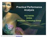 Practical Performance Analysis - NVIDIA Developer Zone