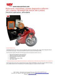 Motorcycle, motorbikes, scooter diagnostics software (PC /Laptop ...