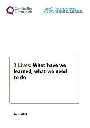 2014 06 17 Three Lives report FINAL