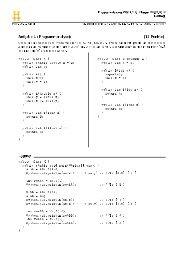 Aufgabe 1 (Programmanalyse): (12 Punkte) Lösung:
