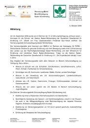 Mitteilung - www.gesunde-schule-bw.de