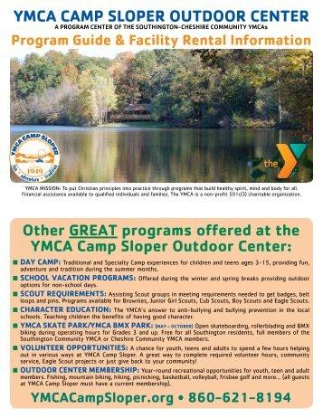 WEST COAST YMCA CAMp SlOpER OuTDOOR CEnTER