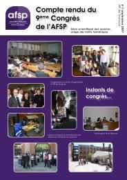 Téléchargez le bilan scientifique - Association française de science ...