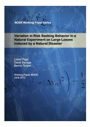 Variation in Risk Seeking Behavior in a Natural Experiment on ...