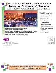 Brochure - International Society for Prenatal Diagnosis