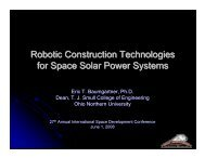 Robotic Construction Technologies for Space Solar Power Systems