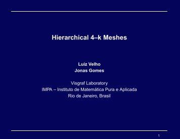 Hierarchical 4–k Meshes - Luiz Velho - Impa