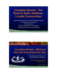 Complete Streets - Local Government Commission