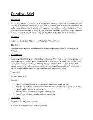 AD340 Creative Brief Wendys - Strongerhead