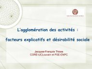 Présentation de M. Thisse - Paris School of Economics