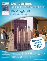 EAST CENTRAL Regional Annual Conference - Health Care ...