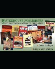 Stenhouse Publishers International Catalogue, Fall 2008
