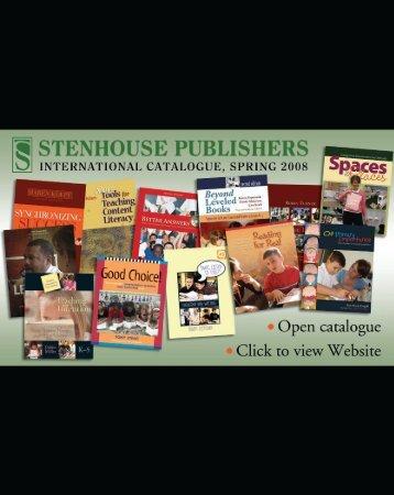 Stenhouse Publishers International Catalogue, Fall 2008