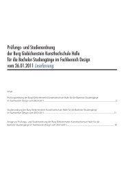 Bachelor-Studiengänge im Fachbereich Design - Burg Giebichenstein