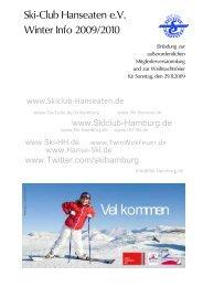Ski-Club Hanseaten e.V. Winter Info 2009/2010