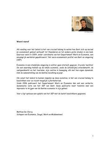 Socio-economisch profiel - 2008 - OOGent