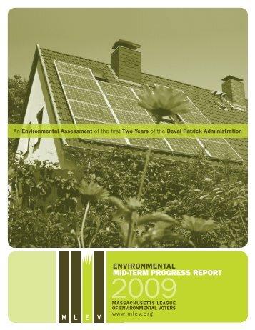 environmental mid-term progress report - Massachusetts League of ...