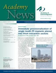 Immediate provisionalization of single tooth ITI implants placed into ...