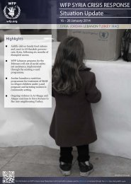 WFP Syria Crisis Response Situation Update, 16-26 January 2014
