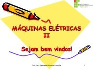 MÁQUINAS ELÉTRICAS II Sejam bem vindos! - Wiki do IF-SC