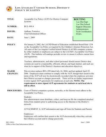 Acceptable Use Policy (AUP) - Dodson Middle School