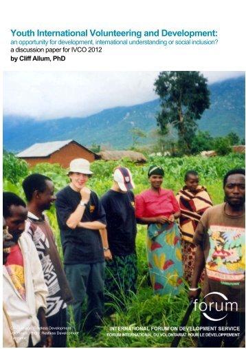 Youth International Volunteering and Development: - Cuso ...