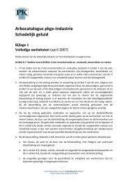 Arbocatalogus Geluid, bijlage 1 - Verbond P&K