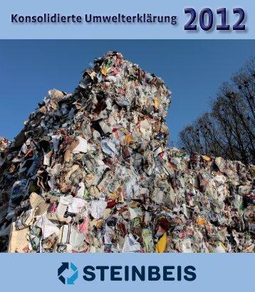 Umwelterklärung 2012 - Steinbeis