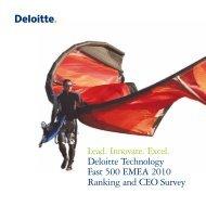 Deloitte Technology Fast 500 EMEA 2010 - Deloitte Fast50