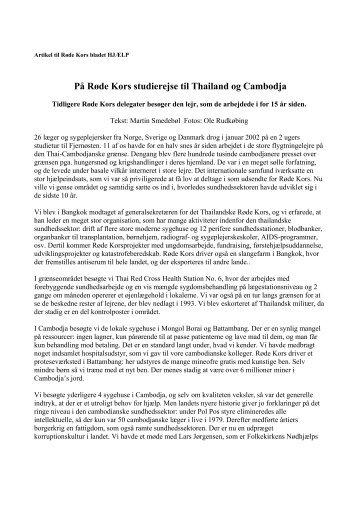 På Røde Kors studierejse til Thailand og Cambodja - Smedebøl.dk