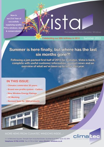 Vista Issue 11 - Climatec's Newsletter - Climatec Windows Limited