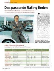 Das passende Rating finden - 4P Consulting GmbH