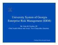 ERM Presentation.pdf - University System of Georgia