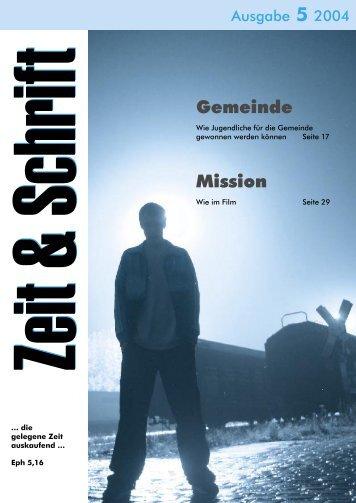 Heft 5/2004 - Zeit & Schrift