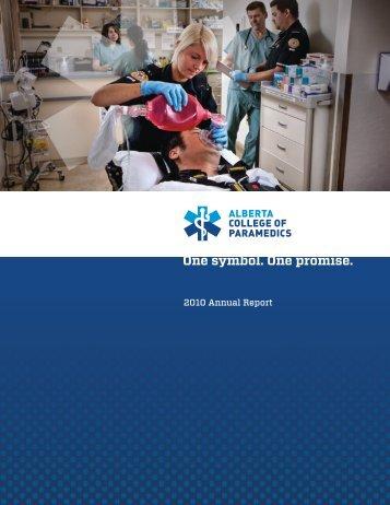 2010 Annual Report - Alberta College of Paramedics