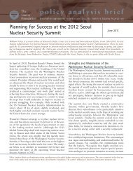 Planning for Success at the 2012 Seoul Nuclear Security Summit