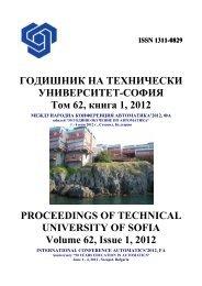 Volume 62 Issue 1 (2012) - Годишник на ТУ - София - Технически ...