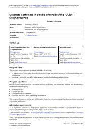 Graduate Certificate in Editing and Publishing - University of ...