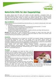 Natürliche Hilfe für den Zappelphilipp - Heidak AG